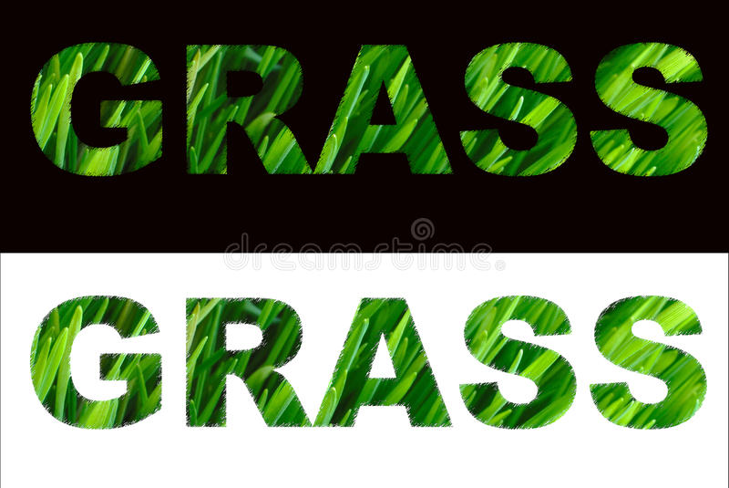 Sign from grass stock photography