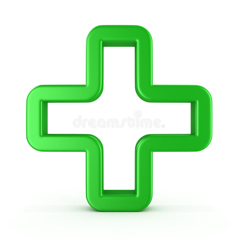 Sign a green cross royalty free illustration