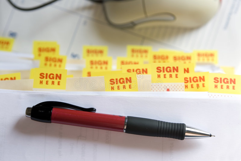 Download Sign Here stock photo. Image of information, office, overtime - 1424076