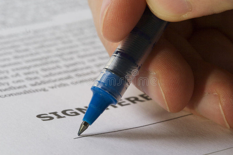 Download Sign here hand stock image. Image of blue, text, paper - 2266361