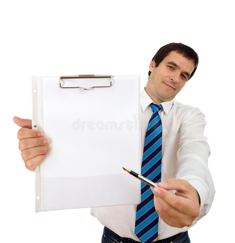 Sign Here And We Re Done Stock Photos