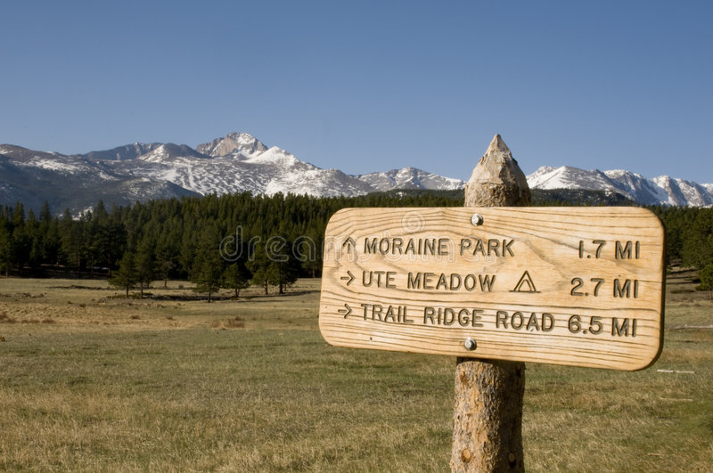 Sign on Hiking Trail royalty free stock photography