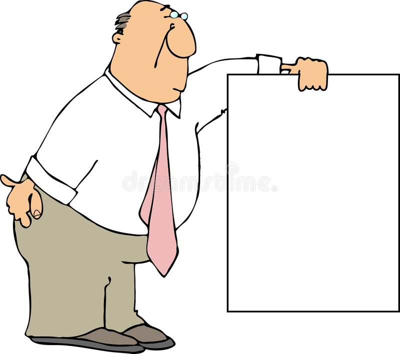Sign Holder stock illustration