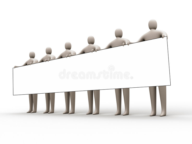 Download Sign Holders #2 stock illustration. Image of advertise - 334977