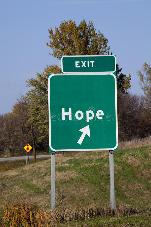 Download Sign of Hope stock photo. Image of exit, nobody, road - 37099602