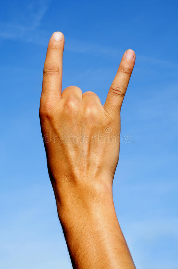 Download Sign Of The Horns Stock Photo - Image: 15990110