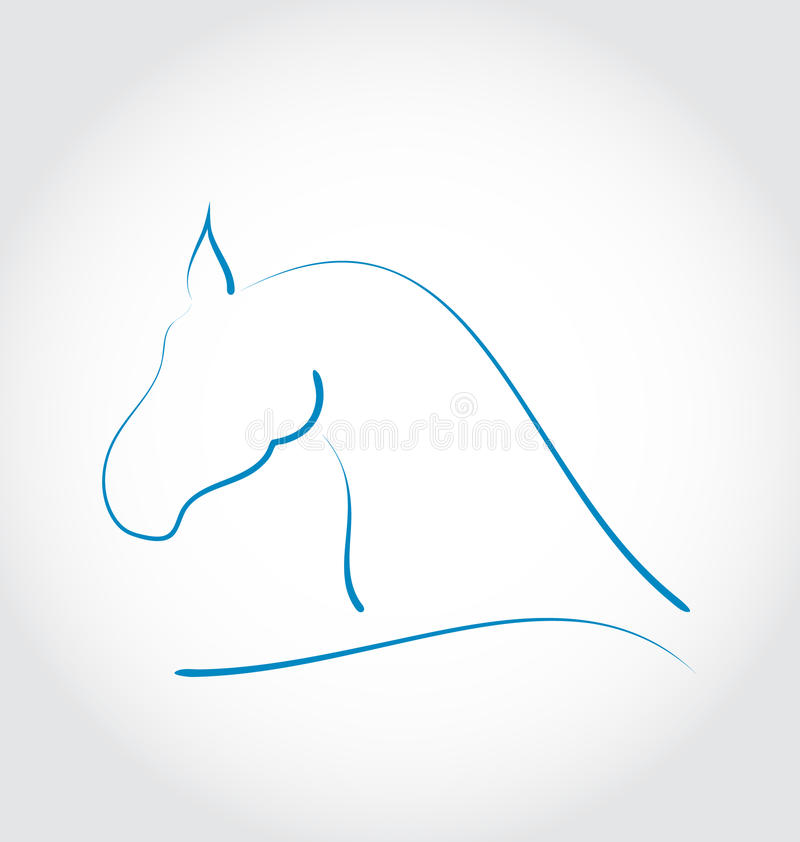 Download Sign Horse  On White Background Stock Vector - Image: 33100625