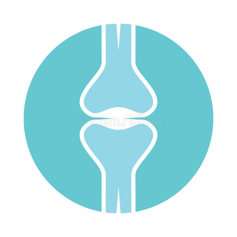 Sign human joint in the circle royalty free illustration
