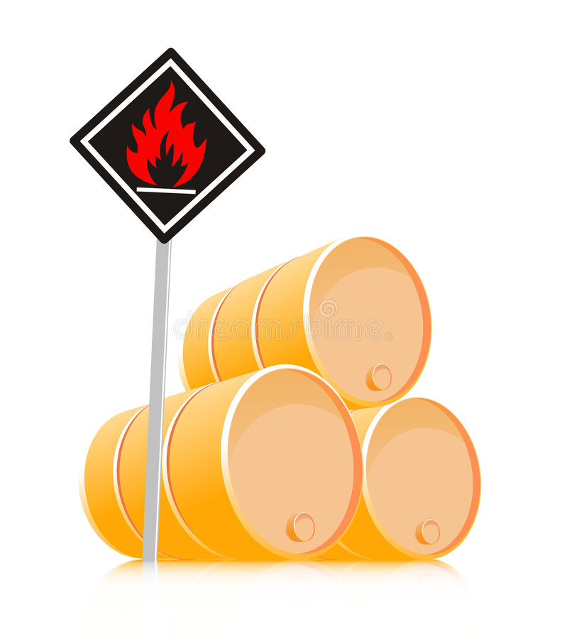 Sign inflammable material stock illustration