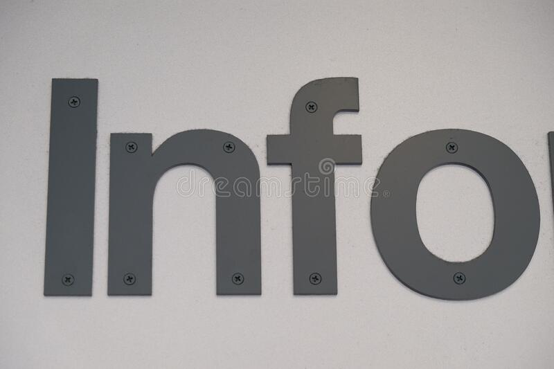 Sign info. The object represents a sign, more specifically a info royalty free stock photo