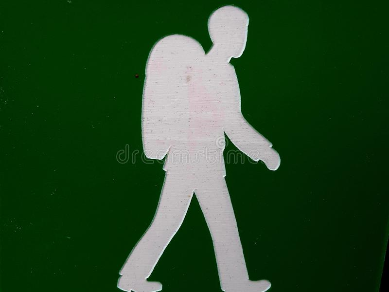 Sign that informs about hiking trails in a village in Norway royalty free stock photography