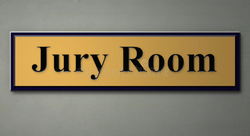 Sign for jury room. A 3d rendering of a sign for JURY ROOM vector illustration