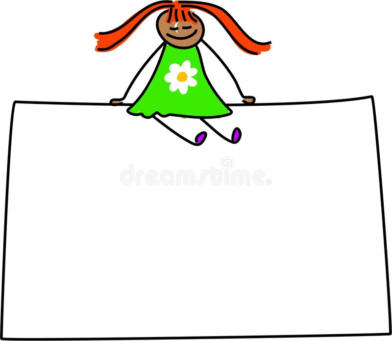 Sign kid stock illustration