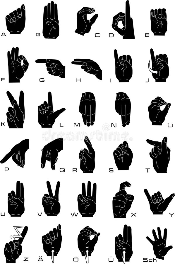 Sign language royalty free illustration