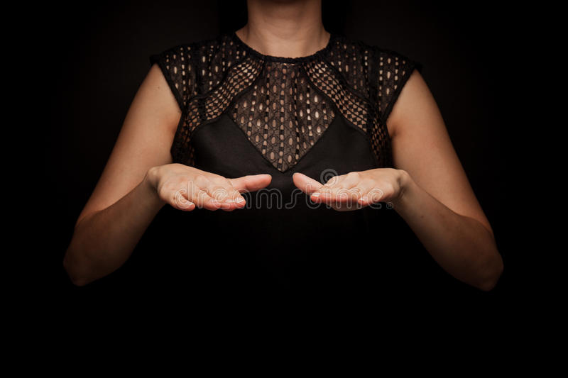 Sign Language of word royalty free stock photo