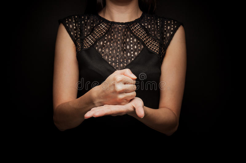 Sign Language of word royalty free stock photos