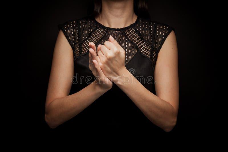 Sign Language of word stock photo