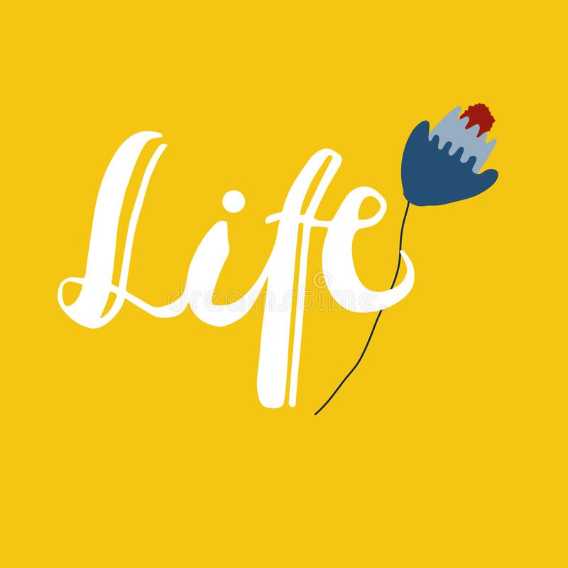 Sign Life with ilustration. Vector. royalty free illustration