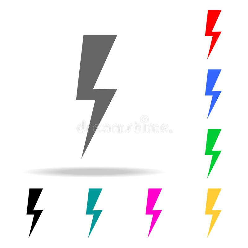 sign of lightning icons. Elements of human web colored icons. Premium quality graphic design icon. Simple icon for websites, web d stock illustration