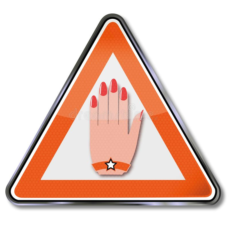Sign manicure. And colored cosmetics vector illustration