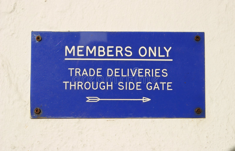 Sign, Members only royalty free stock photography