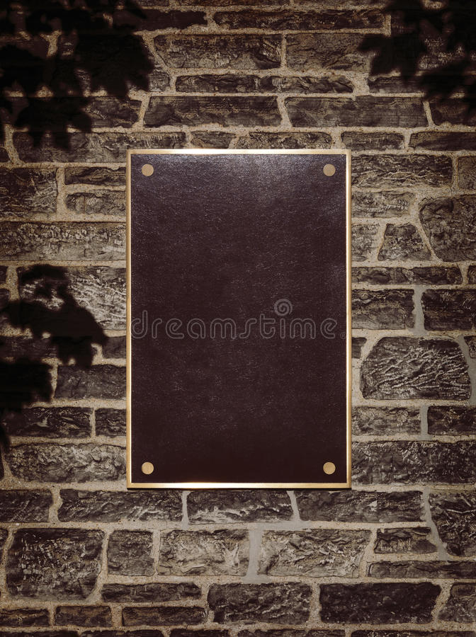 Sign in Metal Frame on a Wall stock photos