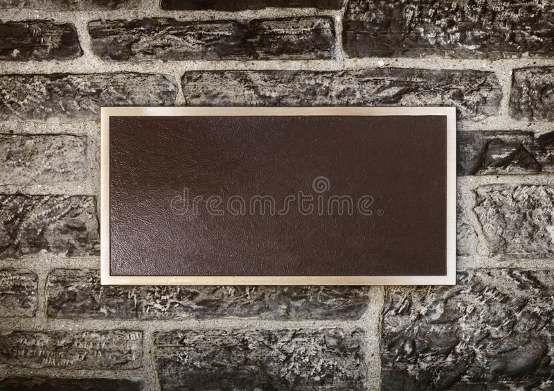 Sign in Metal Frame on a Wall royalty free stock image