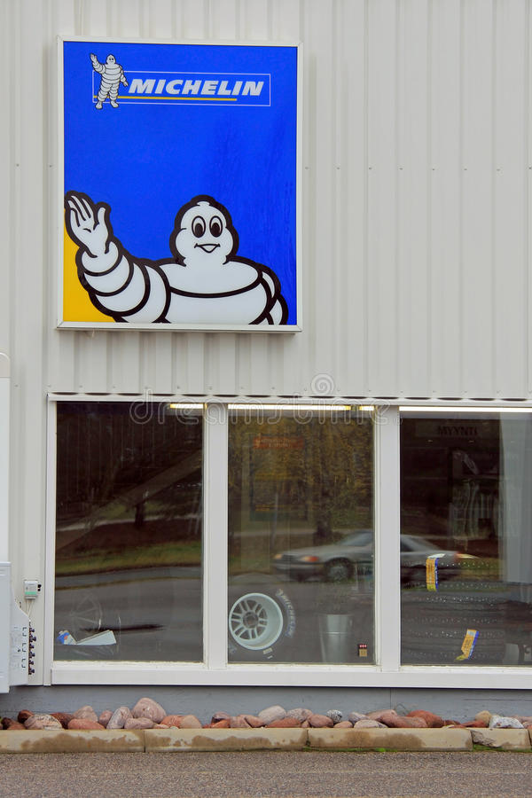 Download Sign Michelin on Wall editorial photo. Image of garage - 34830091