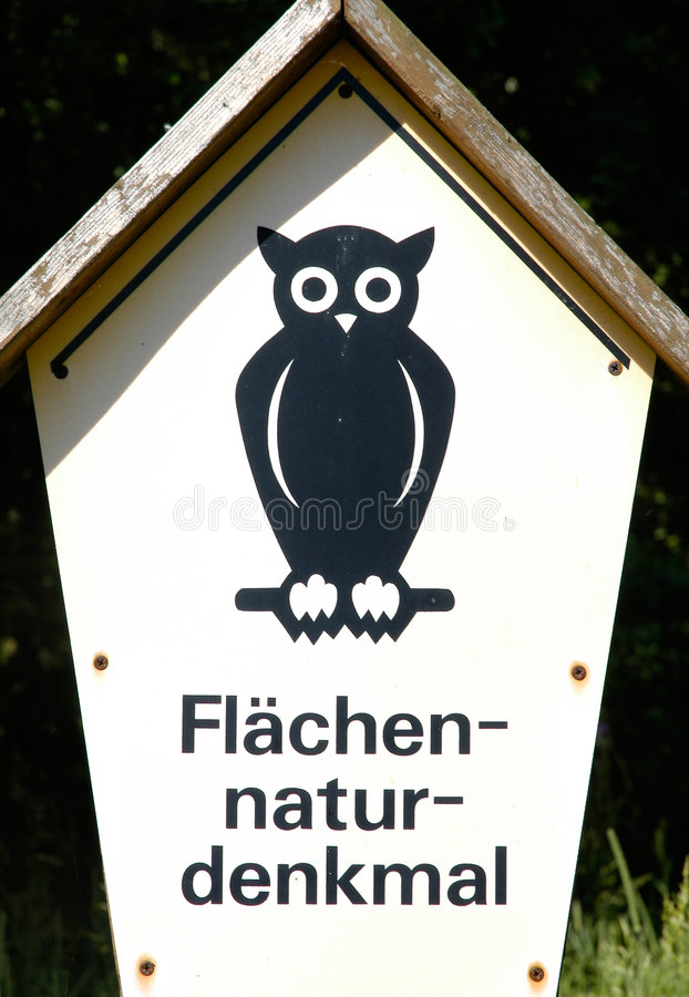 Sign: natural monument royalty free stock images
