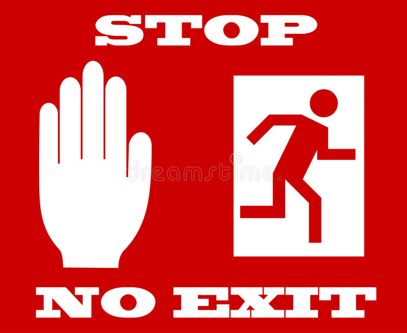 Sign no exit stock illustration