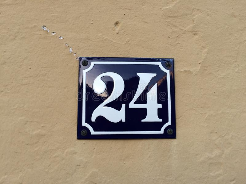 24 on a sign royalty free stock images
