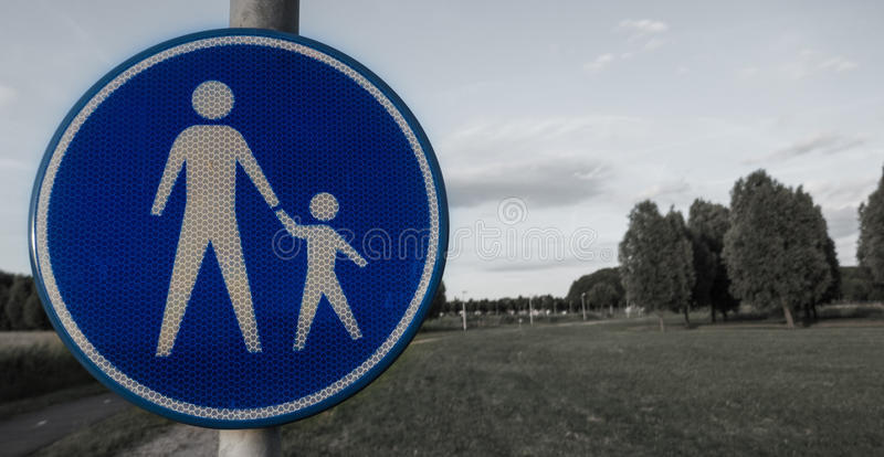 Sign parental supervision. In park in Ridderkerk, the netherlands royalty free stock photo