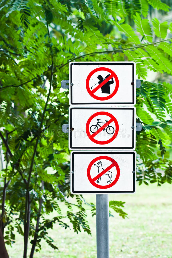 Download Sign in the park stock image. Image of animal, public - 16680165