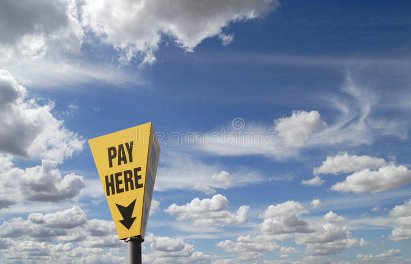 Sign Pay Here Royalty Free Stock Photo