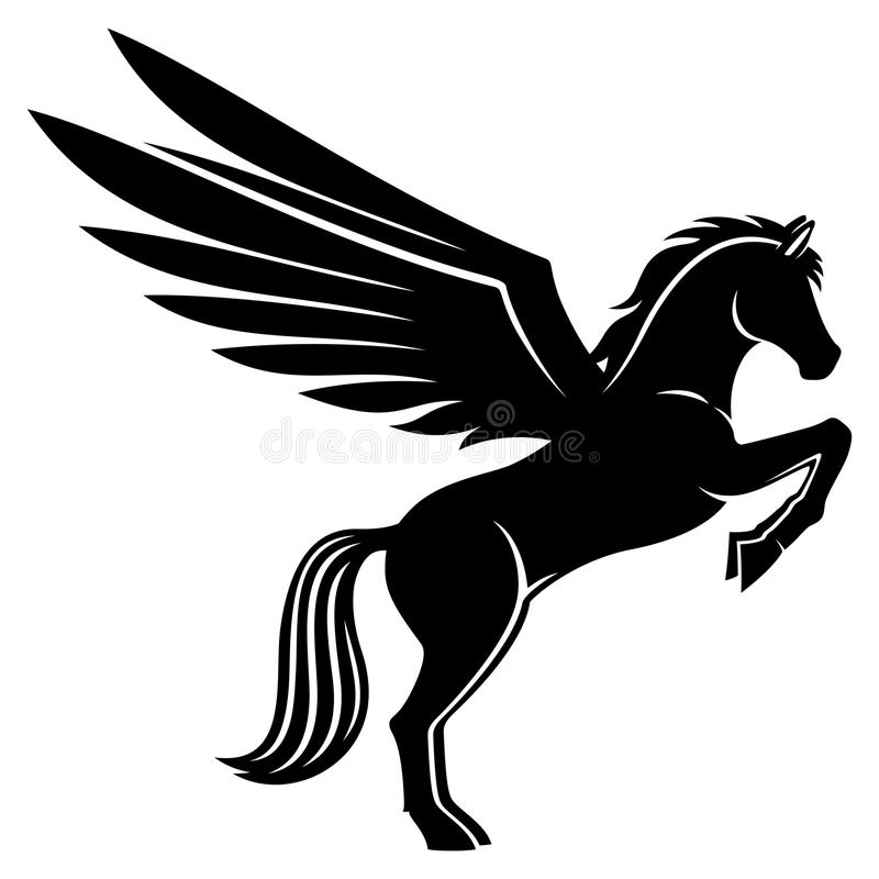 Sign of pegasus. Sign of pegasus on a white background stock illustration