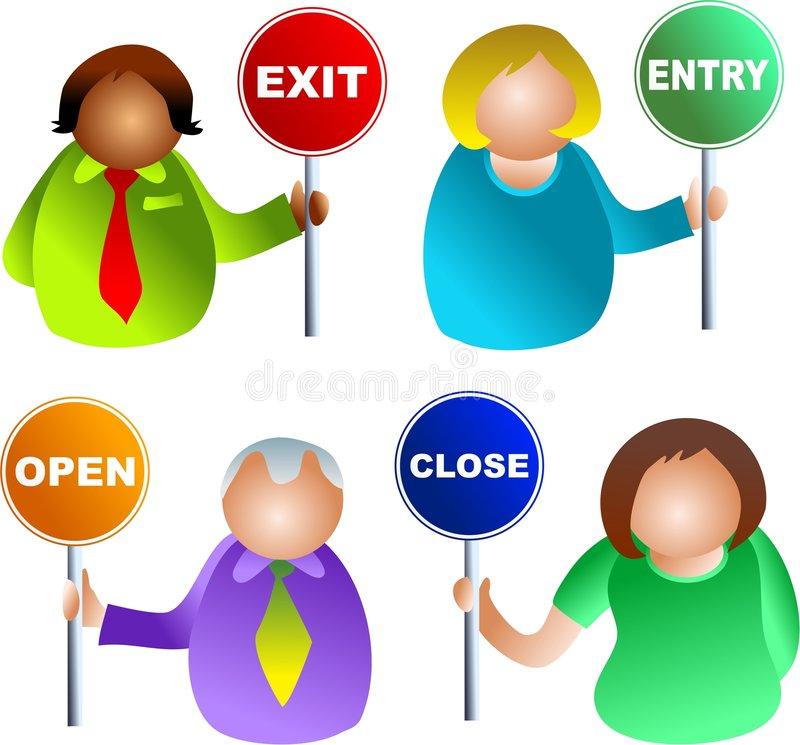 Sign people vector illustration