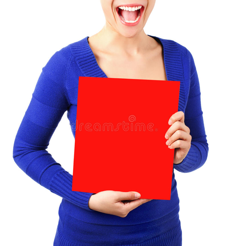 Download Sign / Placard stock photo. Image of mouth, happy, advertisement - 12027878