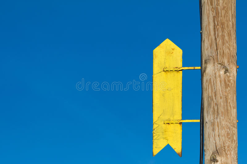 Sign pointing up royalty free stock image
