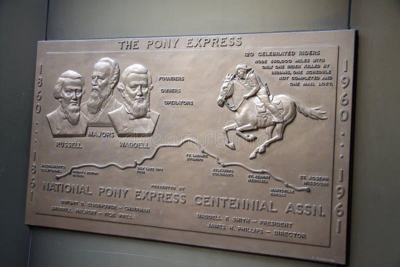 Sign the pony express stock photos