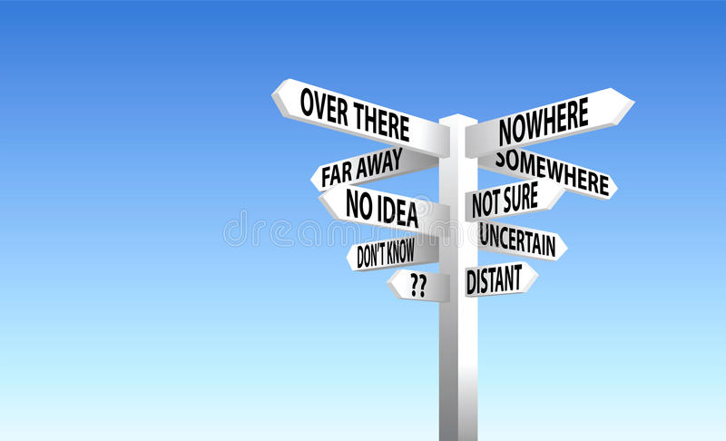 Download Sign Post stock image. Image of lost, post, decision - 16904341
