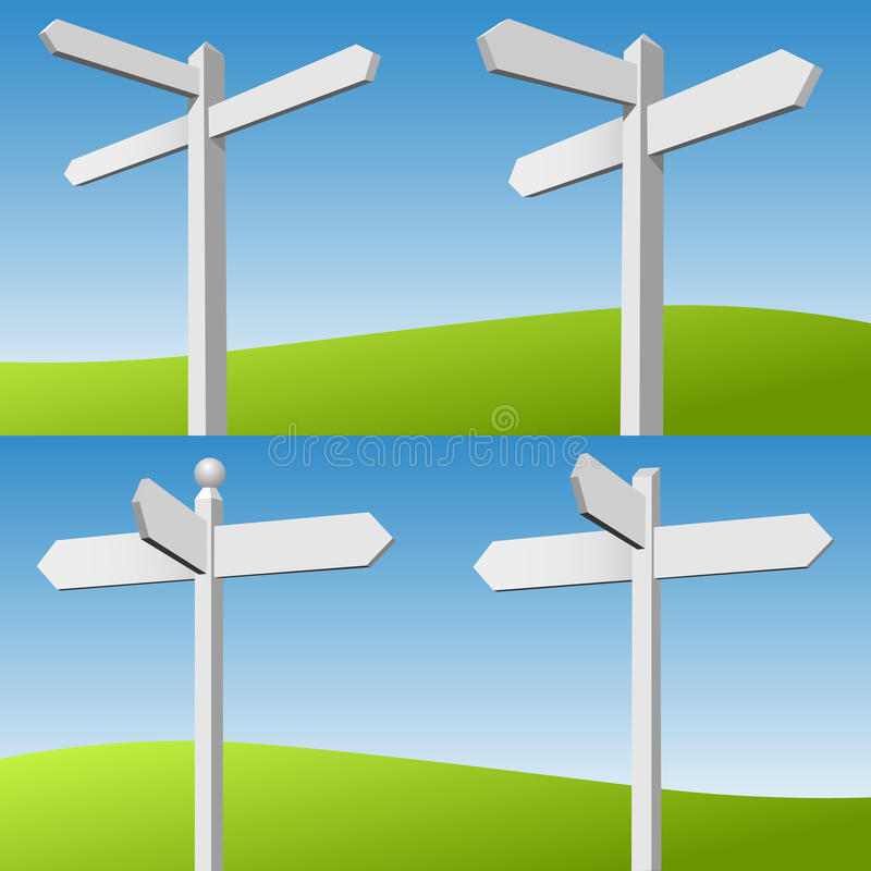 Download Sign Posts stock vector. Image of guidepost, direction - 28889650