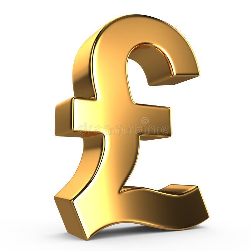 Sign of pound royalty free illustration