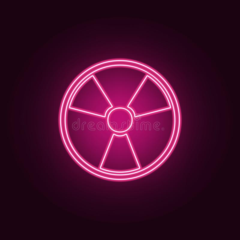 sign of radiation icon. Elements of Ecology in neon style icons. Simple icon for websites, web design, mobile app, info graphics stock illustration