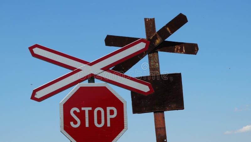 Sign for rail stock photos