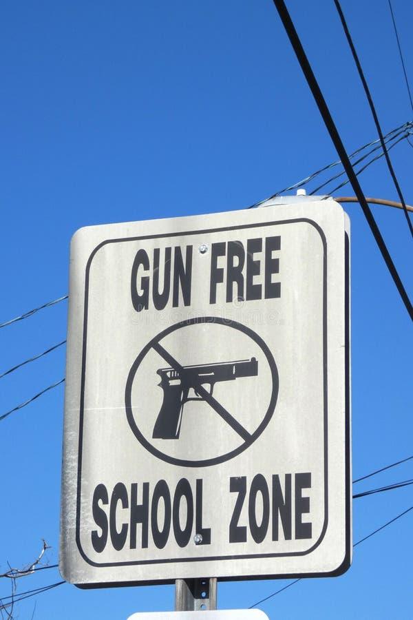 Gun-Free School Zone royalty free stock image