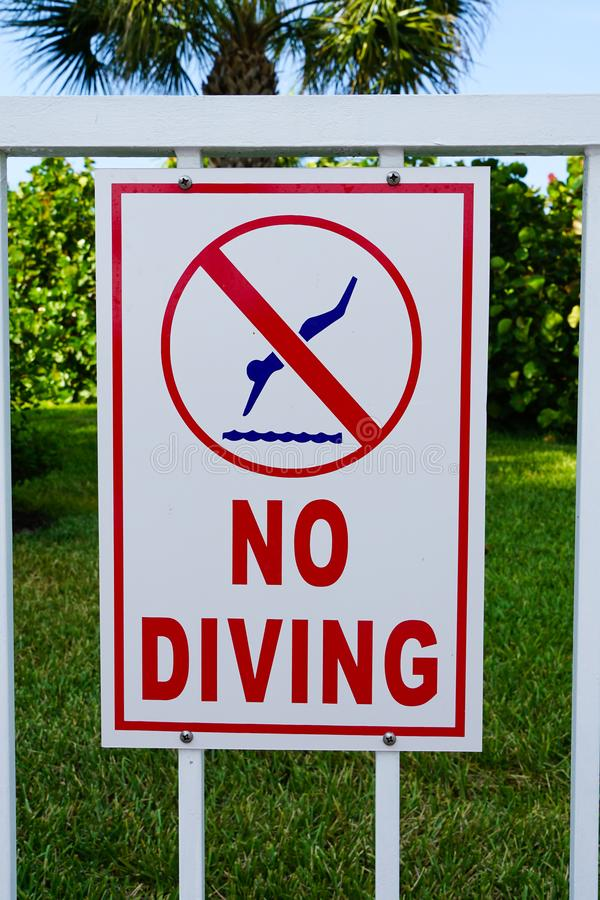 Sign at a resort or homes association pool stock photos