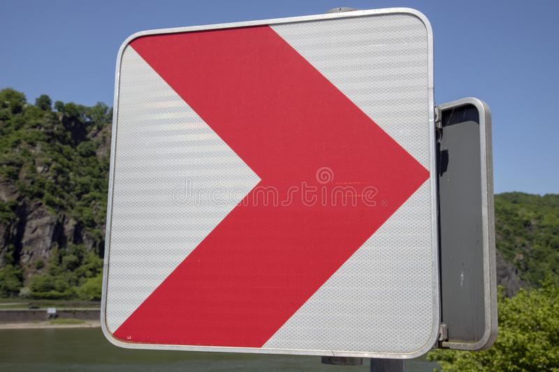 Sign on the road stock photography