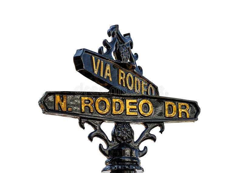 Sign of Rodeo Drive in Beverly Hills, Los Angeles stock photos
