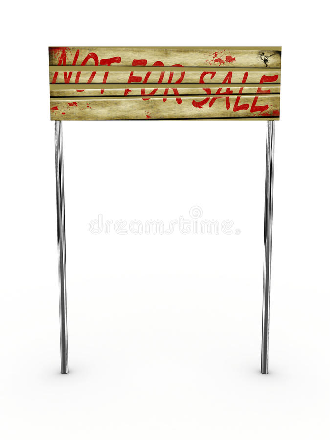 Download Sign For Sale Isolated On White Background Stock Illustration - Image: 14477660