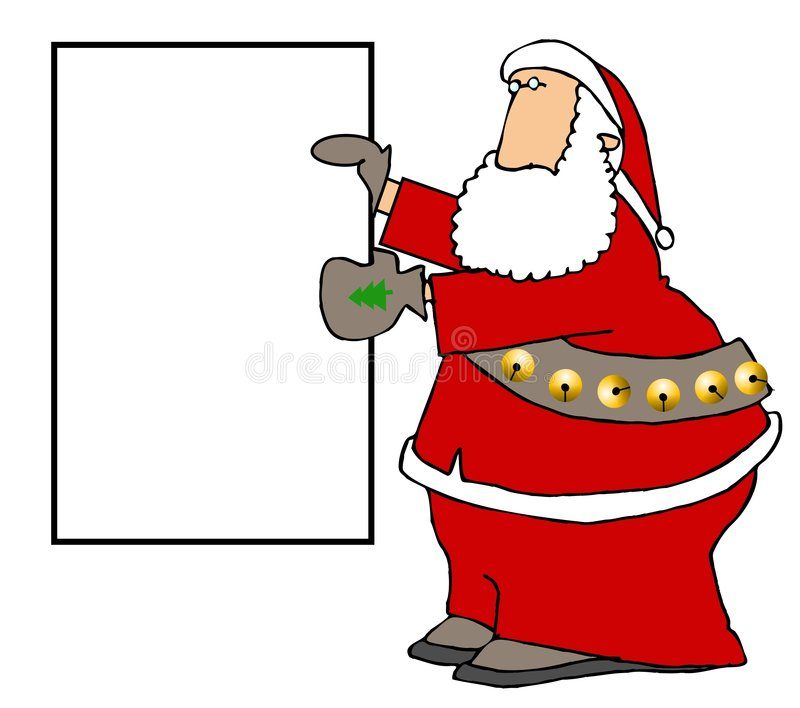Sign Santa royalty free illustration